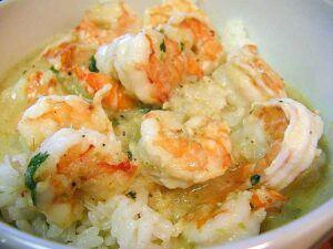 Thai Peanut Shrimp Rice Bowl