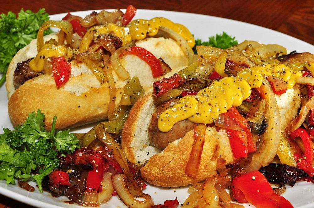 Roasted Sausage, Peppers and Onions