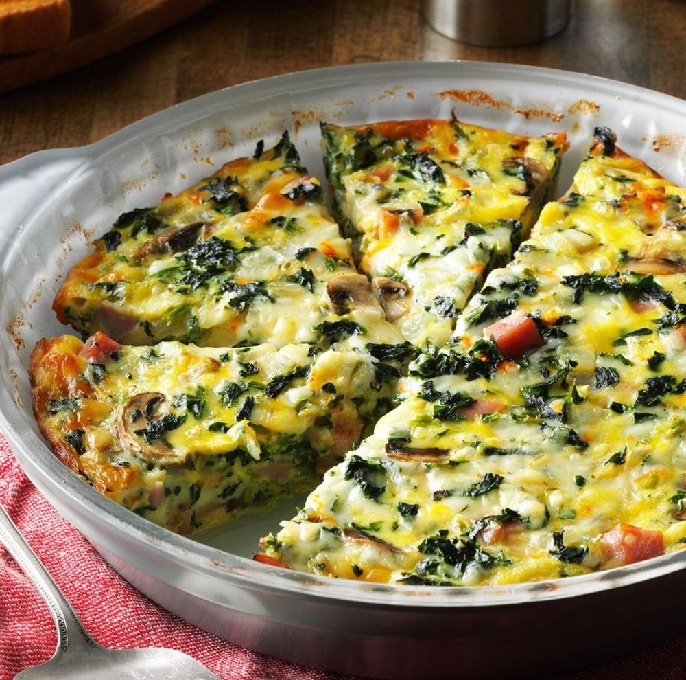 Crustless Vegetarian Quiche