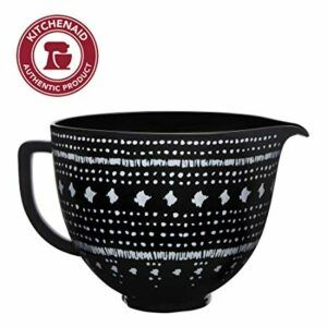 Ceramic Mixing Bowl: Black and White Tapestry