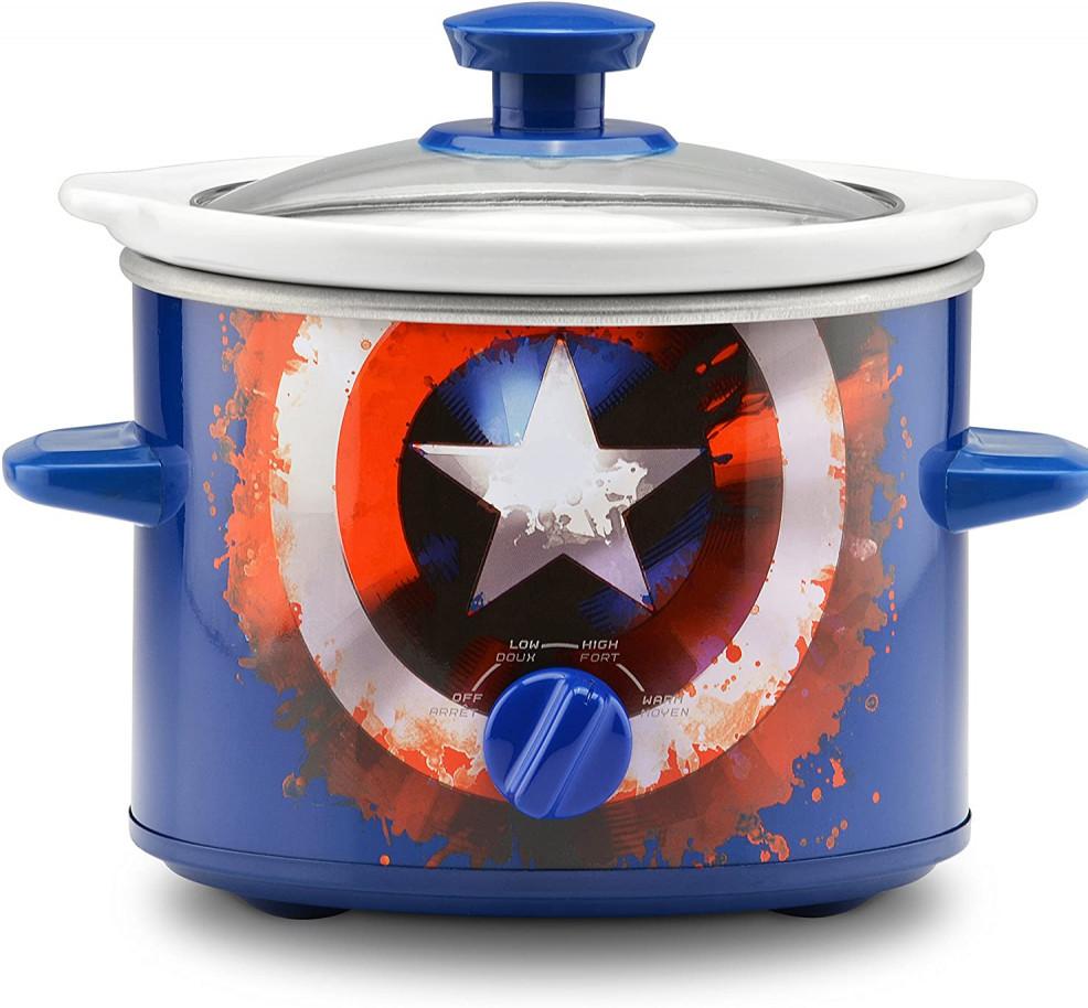 Marvel Captain America Shield Slow Cooker 2 Quart